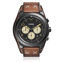 Relógio Masculino Fossil Analógico CH3066/0PN Couro Marrom