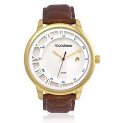 Relógio Masculino Mondaine Analógico 94792GPMVDH2 Couro Marrom