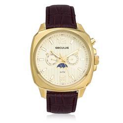 Relógio Masculino Seculus Analógico 23528GPSVDC1 Couro Marrom