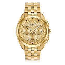 Relógio Masculino Bulova Curv Analógico WB31890G Dourado