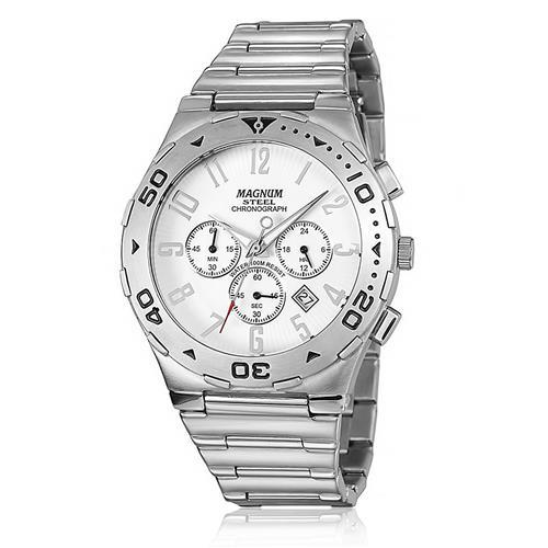 Relógio Masculino Magnum Steel Analógico MA30310Q Aço