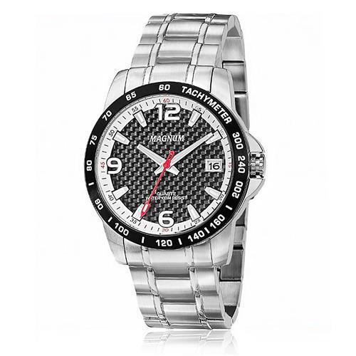 Relógio Masculino Magnum Analógico MA32434T Fibra de Carbono