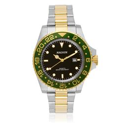 Relógio Masculino Magnum Automatic 21 Jewels Automático MA33844P Catraca Verde