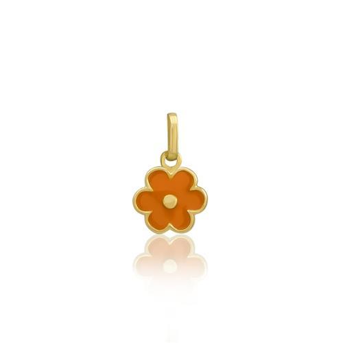 Pingente Infantil Flor, em Ouro Amarelo