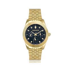 Relógio Masculino Constantim Diamonds Gold Black 6311L-GB Dourado