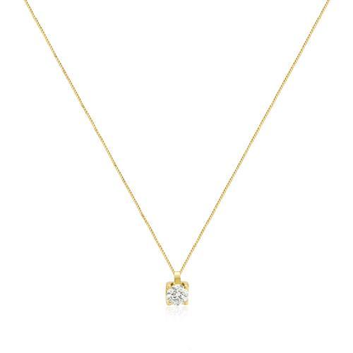 Ponto de Luz com Diamante de 52 Pts e Corrente em Ouro Amarelo