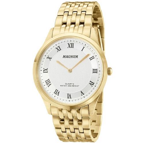 Relógio Masculino Magnum Analógico MA21919H Dourado