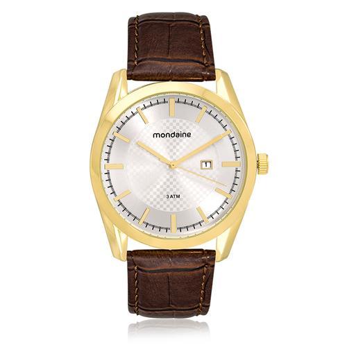 Relógio Masculino Mondaine Analógico 76582GPMKDH2 Couro Marrom