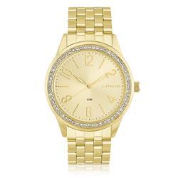 Relógio Feminino Lince Analógico LRG4338L C2KX Dourado com cristais