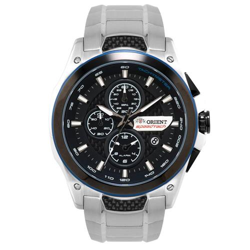 Relógio Masculino Orient Speed Tech Analógico MBSSC112 P1SX Fibra de Carbono