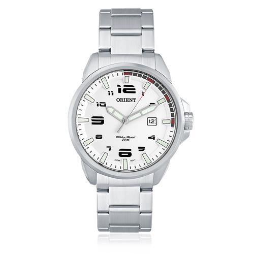 Relógio Masculino Orient Analógico MBSS1206 S2SX Fundo Branco