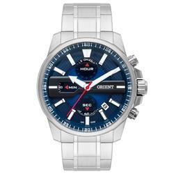 Relógio Masculino Orient Analógico MBSSC163 D1SX Aço com fundo Azul