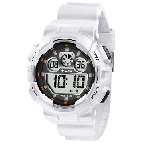 EZ Relógio Masculino XGames Digital XMPPD342 BXBX Borracha Branca