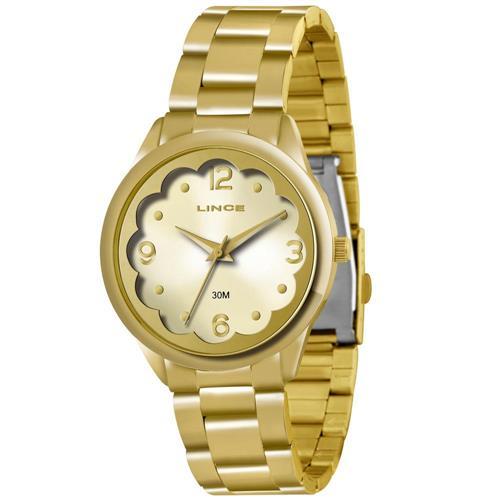 Relógio Feminino Lince Analógico LRG4281L K148 Dourado