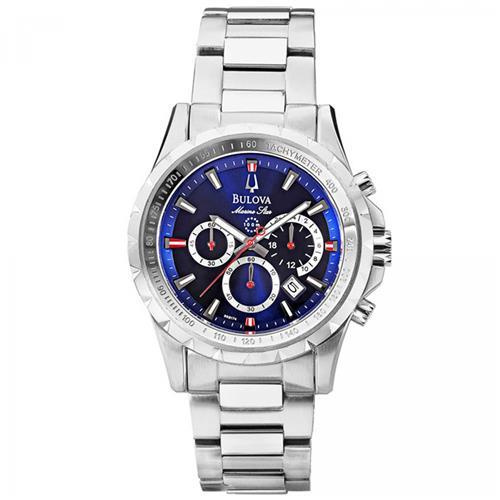 Relógio Masculino Bulova Marine Star Analógico WB30864A Fundo Azul