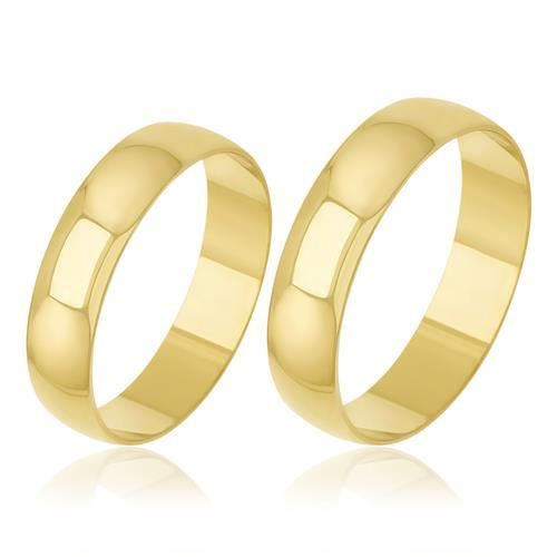 Par de Alianças Tradicionais em Ouro Amarelo 40759 40759