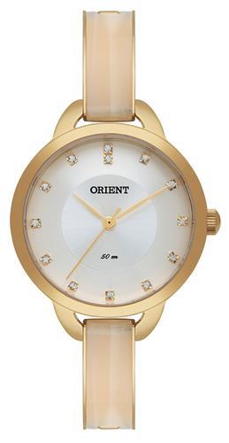 Relógio Feminino Orient Analógico FTSS0036 S1KX Dourado com Cristais