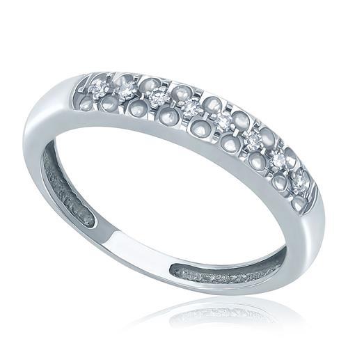 Anel com 8 Diamantes em ouro branco