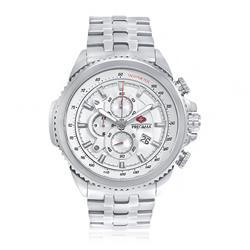 Relógio Masculino Swiss Precimax Analógico Fundo Branco