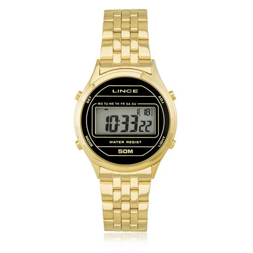 Relógio Feminino Lince Digital SDPH021L BXKX Dourado