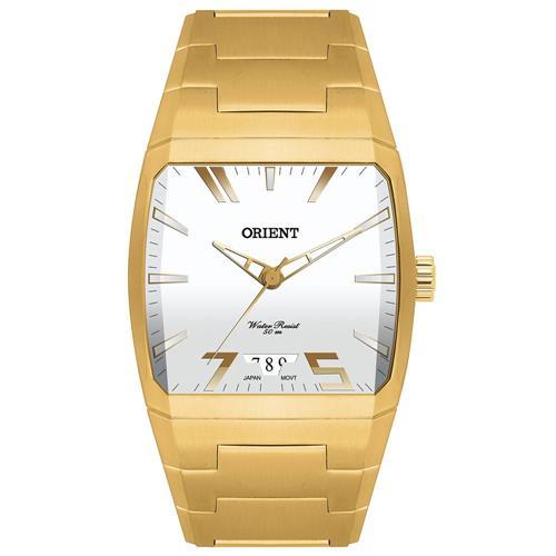 Relógio Masculino Orient Analógico GGSS1008 S1KX Aço Dourado