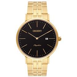 Relógio Masculino Orient Sapphire Analógico MGSSS004 P1KX Dourado com fundo preto