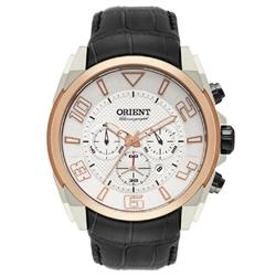 Relógio Masculino Orient Chronograph Analógico MTSCC024 S2PX Couro Preto