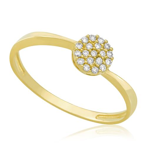 Anel Chuveiro com 20 Pts em Diamantes, em Ouro Amarelo