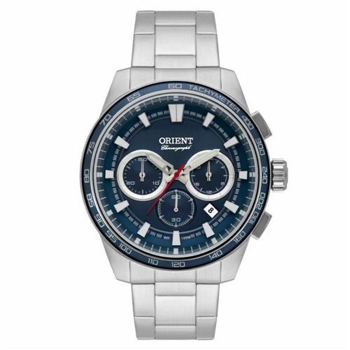 Relógio Masculino Orient Chronograph Quartz MBSSC161 D1SX Fundo Azul