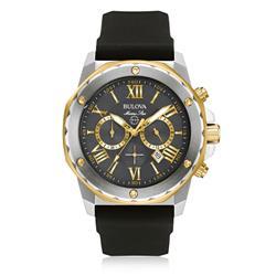 Relógio Masculino Bulova Marine Star Quartz WB31943C Borracha Preta