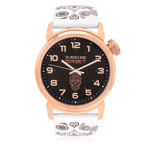 Relógio Yankee Street Black Angels Analógico YS30452U Aço Rose