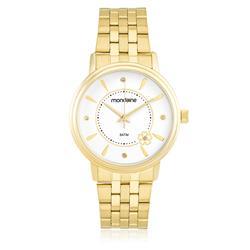 Relógio Feminino Mondaine Analógico 83350LPMKDE1 Fundo Branco com cristais