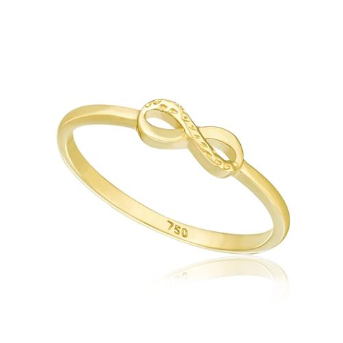 Anel de Falange modelo Infinito, em Ouro Amarelo