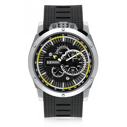 Relógio Masculino Orient Chronograph Analógico MBSPC020 G1PX Borracha