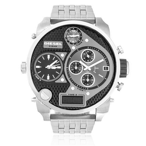 Relógio Masculino Diesel Ana-Digi IDZ7221/Z Aço com fundo grafite