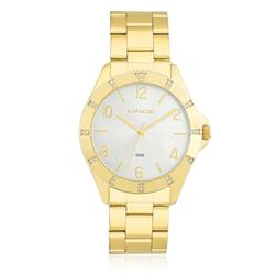Relógio Feminino Lince Analógico LRG4367L K187 Aço Dourado com Cristais