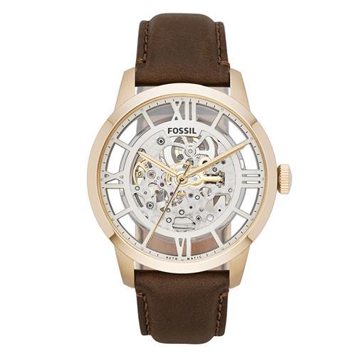 Relógio Masculino Fossil Automatic REF ME3043/0DN Maquinário Aparente em Couro