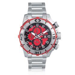 Relógio Masculino Festina Chrono Bike F16599-8 Aço com fundo vermelho