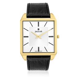 Relógio Masculino Jaguar Analógico J040AGL01 S1PX Dourado com couro preto