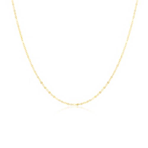 Corrente Feminina Malha Trabalhada, 1,1 grama em Ouro Amarelo