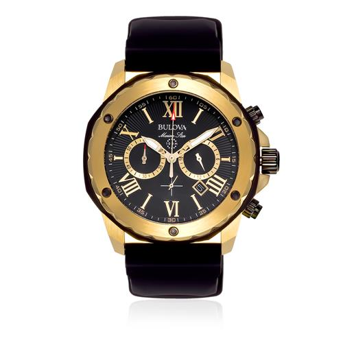 Relógio Masculino Bulova Marine Star Analógico Quartz WB30873D Algarismos Romanos
