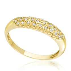 Anel com 28 Diamantes, trabalhado em Ouro Amarelo