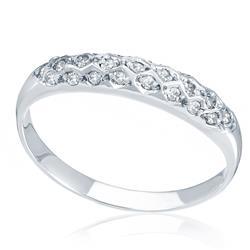 Meia Aliança com 24 Diamantes, em Ouro Branco
