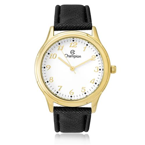 Relógio Feminino Champion Analógico CH22251M Couro Preto