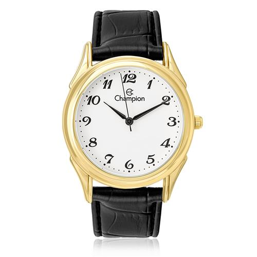 Relógio Feminino Champion Analógico CH22219M Couro Preto