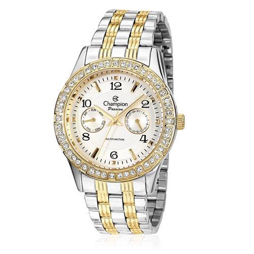 Relógio Feminino Champion Passion Analógico CH38388B Aço Misto