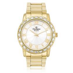 Relógio Feminino Champion Passion Analógico CN28857H Aço Dourado com cristais