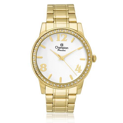 Relógio Feminino Champion Passion Analógico CH24204H Aço Dourado com cristais