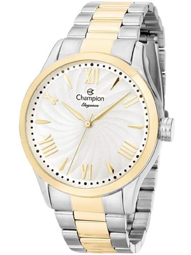Relógio Feminino Champion Elegance Analógico CN27796B Aço Misto
