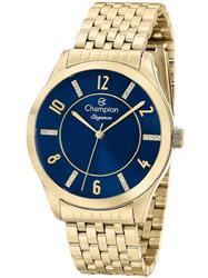 Relógio Feminino Champion Elegance Analógico CN27698A Fundo Azul com cristais